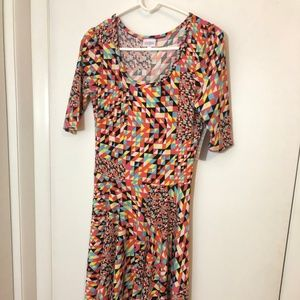 Mulicolor LuLaRoe Nicole Dress